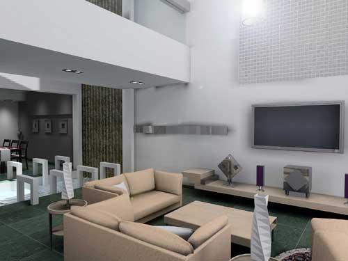 客厅采光天井装修图片