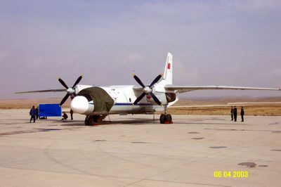 执行人工增雨飞行作业任务的航空兵某部飞机整装待发.