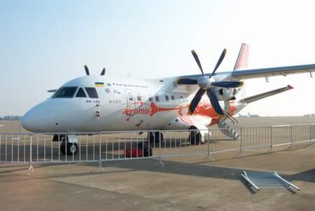 珠海航展独家组图:参展的乌克兰中型运输机