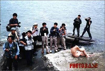 """""""人与海"""" 连云港海边的人体艺术[图1]"""