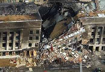 美国五角大楼坍塌的一角