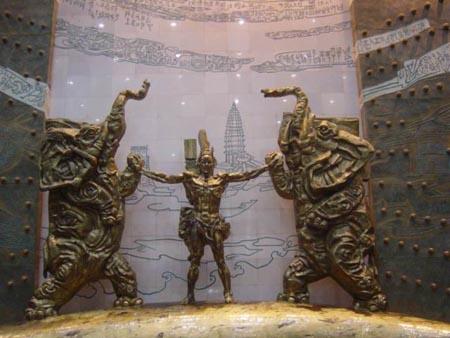 图文:采风团参观河南博物馆