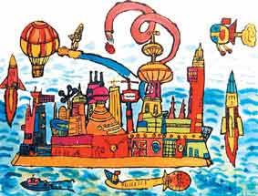 多次获得国际儿童画展大奖的睢宁儿童画.图片