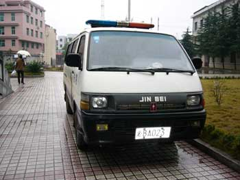 湖南攸县警车猫腻多 被扣民用车摇身一变挂警牌