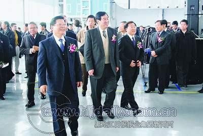 全国政协副主席李蒙,黑龙江省领导宋法棠,张左己,韩桂芝,张成义,王