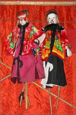 湖南木偶戏有提线,布袋和杖头木偶三种