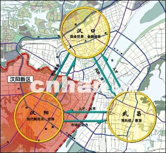 武汉三镇互动示意图.市城市规划设计研究院提供