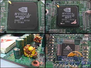 该主板采用的mcp-t除了提供10/100m网络接口外,还集成apu音频处理器