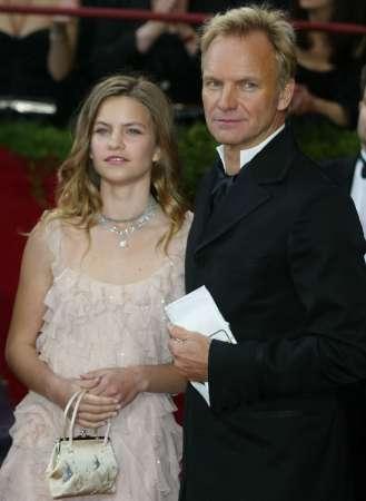 图文:奥斯卡颁奖-斯汀与女儿