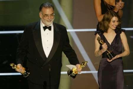 图文:奥斯卡颁奖-Francis Ford Coppola与女儿