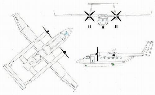 苏-80俯视图; su-80,这种布局很占机场空间的