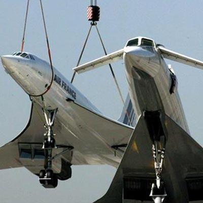 图文:协和号飞机退役将陈列德国博物馆