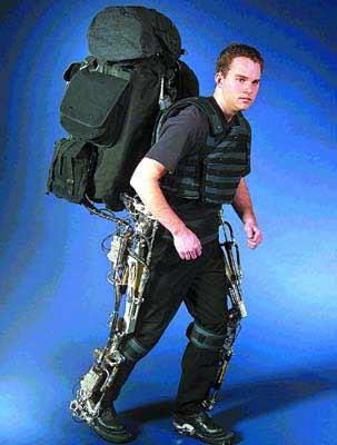 借助这种钢架结构的仿生机械腿