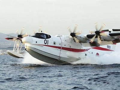 日本防卫厅获得首架改进型us-1a水上飞机(附图)