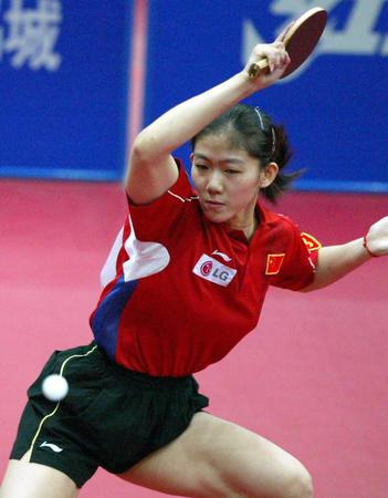 奥运会亚洲区预选赛 女单冠军牛剑锋(图文)