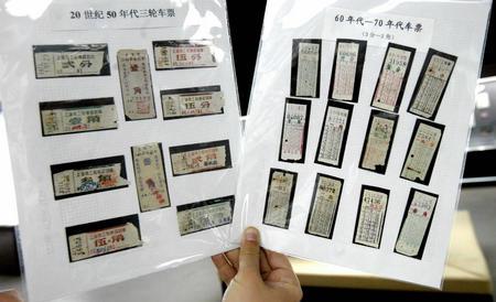 """忆"""",展示了新中国成立以来老百姓衣食住行的种种变迁. 新华社记"""