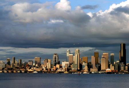 图文:翡翠城市--美国西雅图市的建筑群