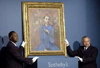 毕加索名画以1.04亿美元成交 成世界最贵油画高清图片