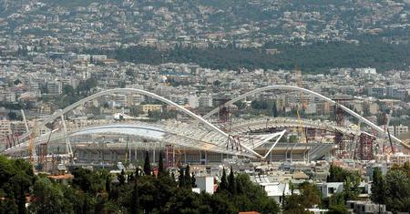 奥运主会场顶棚合龙在即 顶棚全景