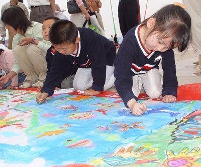 海底世界手绘长卷画