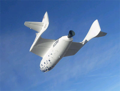 """美私人航天器""""太空飞船1号""""即将飞入太空"""