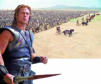 《特洛伊》看美人看战争 观众且对号入座(图)-