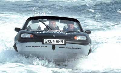 水陆两栖汽车横渡英吉利海峡(图)