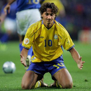图文:意大利1-0瑞典 伊布拉希莫维奇跪地祈祷