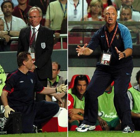 图文:葡萄牙8-7英格兰 斯科拉里与埃里克松