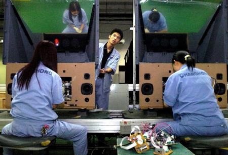 四川长虹加强国际技术合作       四川长虹电子集团公司彩电制造总装