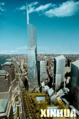 纽约自由塔奠基仪式