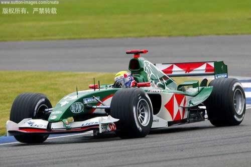 F1英国大奖赛排位赛 美洲虎车手韦伯