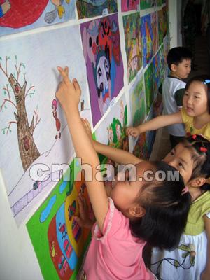 这些充满孩子稚趣的作品显示了我省少儿积极向上的精神风貌.高宝