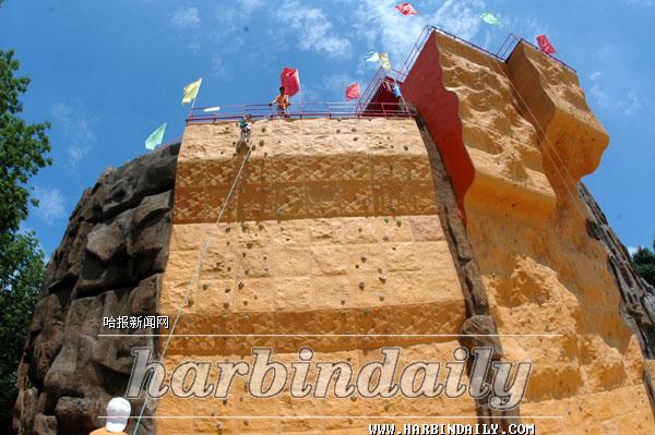 黑龙江省最高的人工攀岩场落户省植物园
