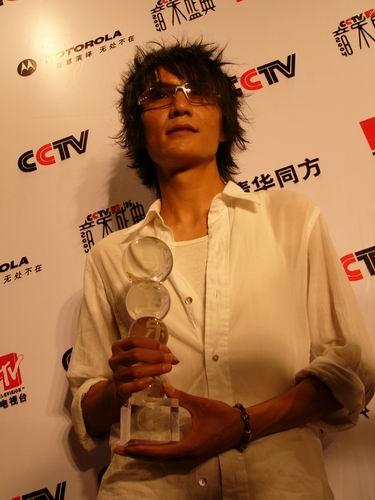 图文:第六届CCTV-MTV音乐颁奖盛典-采访图片(朴树3)