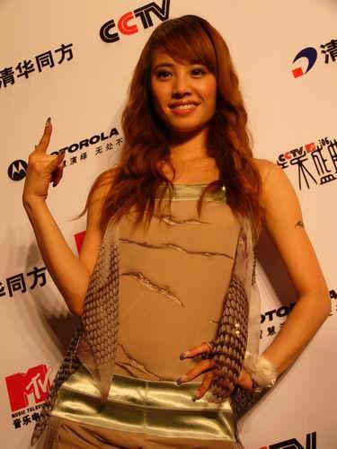 图文:第六届CCTV-MTV音乐颁奖盛典-采访图片(蔡依琳2)