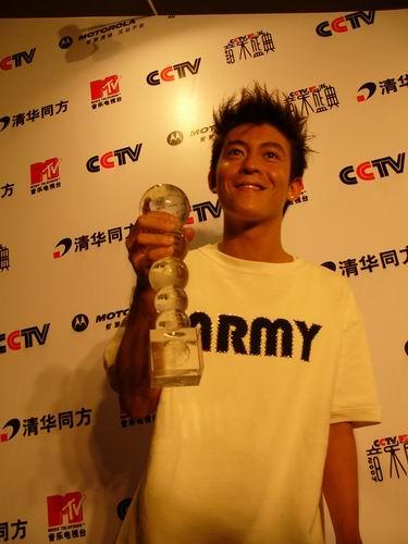 图文:第六届CCTV-MTV音乐颁奖盛典-采访图片(陈冠希5)