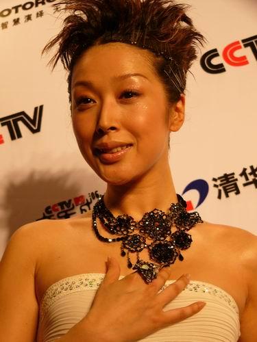 图文:第六届CCTV-MTV音乐颁奖盛典-采访图片(孙悦2)
