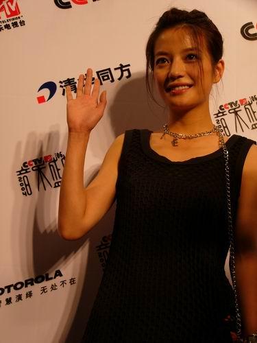 图文:第六届音乐颁奖盛典-采访图片(赵薇4)