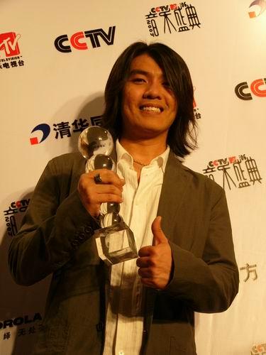 图文:第六届CCTV-MTV音乐颁奖盛典-采访图片(阿杜1)