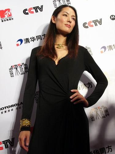 图文:第六届CCTV-MTV音乐颁奖盛典-采访图片(谢东娜6)