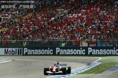 图文:f1德国大奖赛决赛-丰田车手马塔