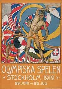 1912年第五届斯德哥尔摩奥运会海报