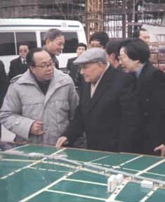 1992年2月7日邓小平考察上海浦东新区