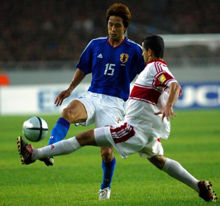 日本5 4约旦 福西崇史在比赛中