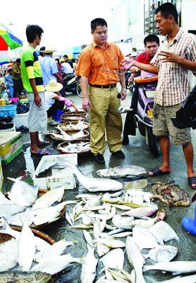 开渔首日 霞山水产品批发市场海鲜交易火爆(图)