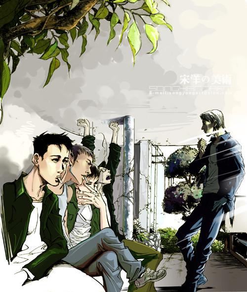 图:宋洋漫画作品《动物凶猛》彩图-犹在梦中的原乡