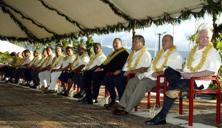 图文:第35届太平洋岛国论坛首脑会议开幕(2)