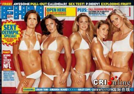 美国奥运军团5美女登上《男人帮》