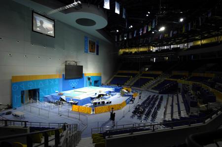 图文:雅典奥运会举重馆内景